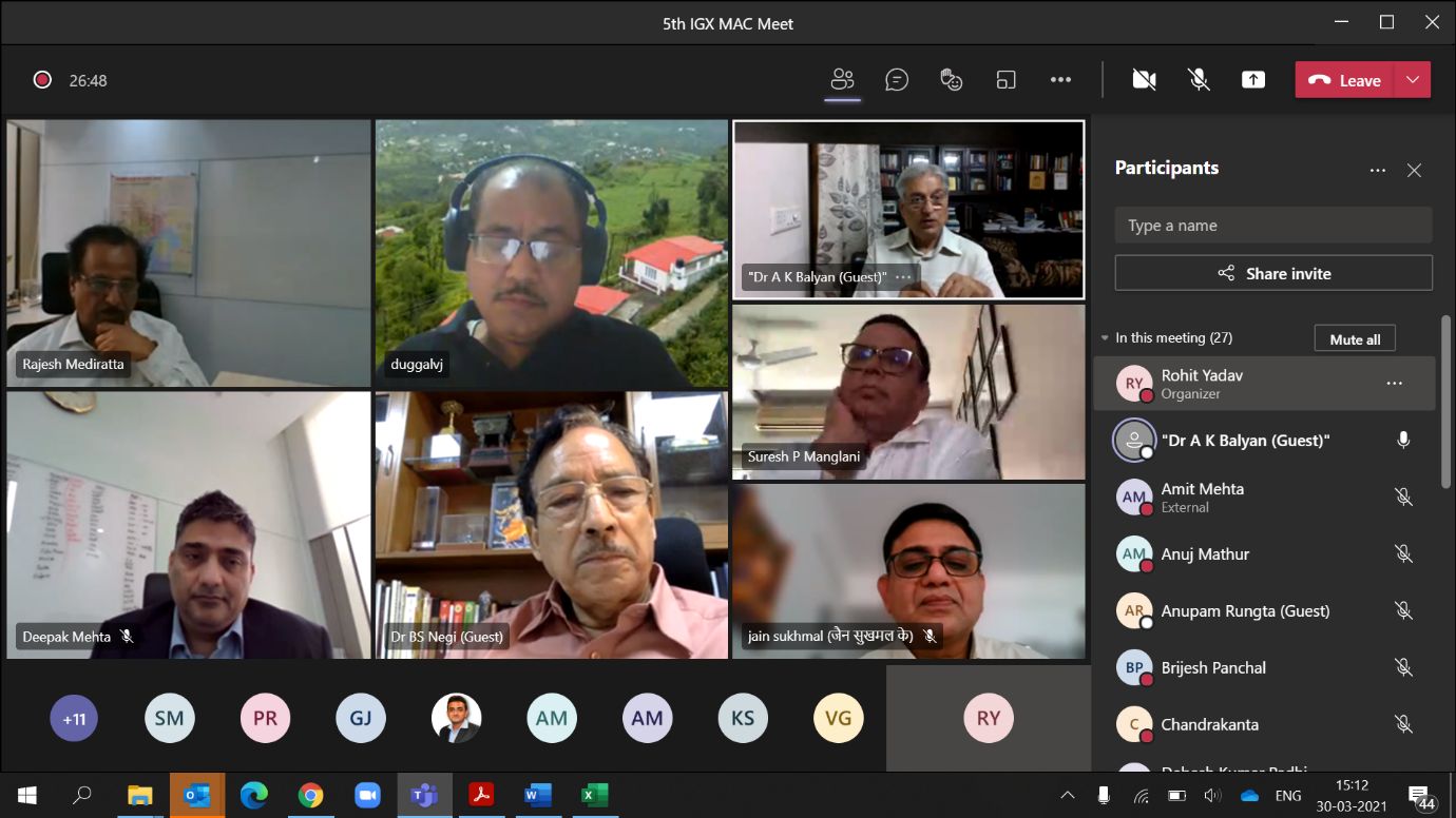 5th IGX MAC Meeting held on 30th March 2021-image2